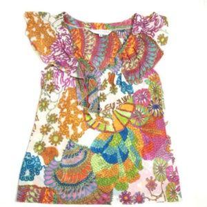Trina Turk Women's XS Colorful Blouse Sleeveless